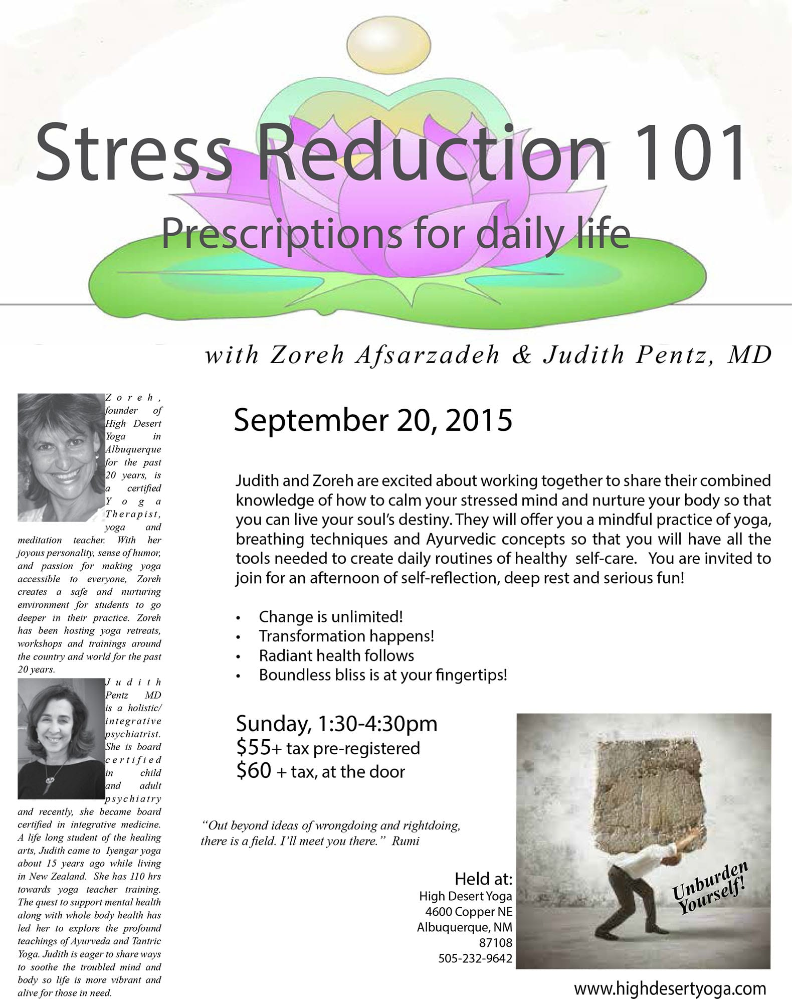 Stress Reduction 101: Prescriptions for a Daily Life